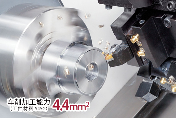 车削加工能力 4.4mm2(工件材料 S45C)