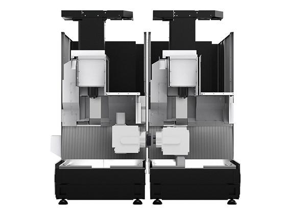 2台连接 工作台自动传输工序之间的工件智能化生产线系统