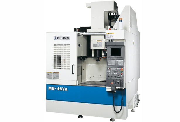 MB-46V vertical machining center is Okuma's first machine equipped with the Thermo-Friendly concept