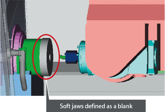 Interference checks during soft jaw forming