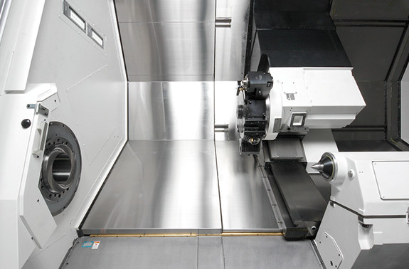 Process-intensive machining with the Y axis 1-chuck machining even with complexshaped workpieces (LB45Ⅲ MY specs)