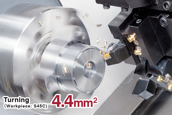 Turning 4.4 mm2 (Workpiece: S45C)