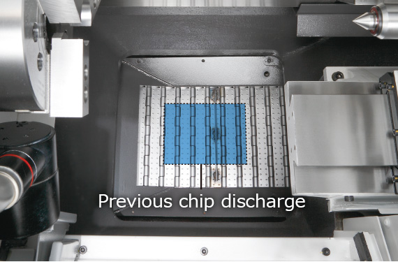 Outstanding chip discharge