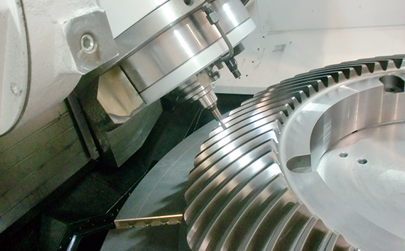 Simultaneous 5-axis machining: B-axis NC control (optional)