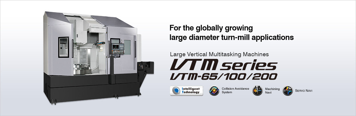 For the globally growing large diameter turn-mill applications