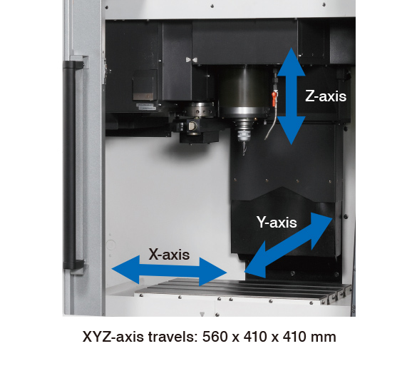 MILLAC 44V Ⅱ XYZ-axis travels: 560 x 410 x 410 mm