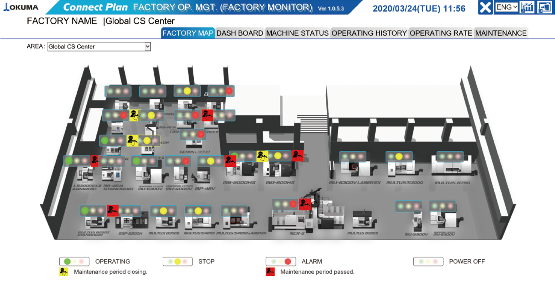 Factory operation control monitor
