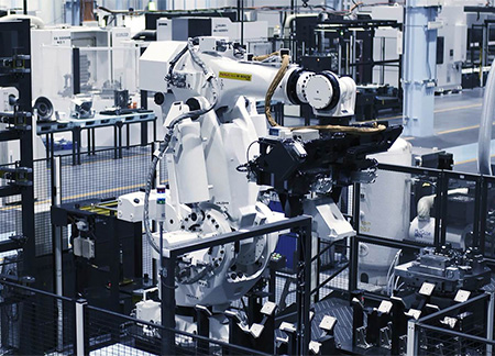 Highly effective robotics showcased in DS2 parts factory